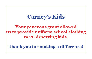 Thank you CarneysKids