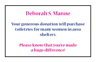Thank You Deborah Manne